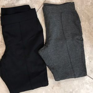 Black and Grey Front Seam Ponte Pants